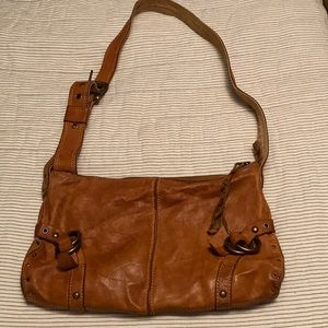 Vintage Inspired Leather Lucky Brand Bag